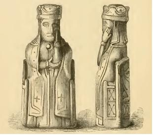 Illustration of the chess king found in Clonard Co. Meath