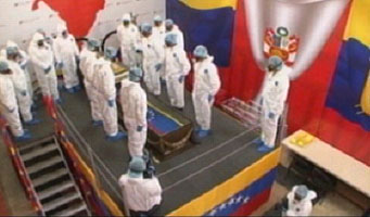 Simon Bolivar's remains get disturbed yet again - today exhumed from the Venezuelan pantheon