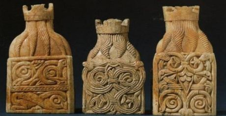 The Celtic design on the Lewis chessmen