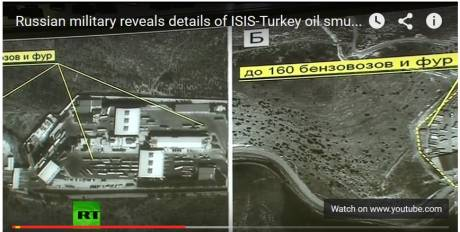 ISIS oil tankers at Turkey Syrian border crossing point