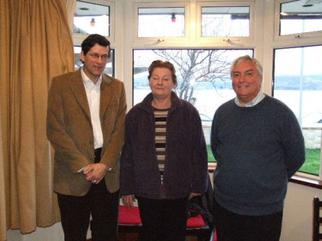 Dr Larry Staudt, Anne Muldowney and Dr Dennis Pringle