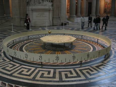 "Foucault's pendulum at the Pantheon in Paris. ""still swinging away over the stolen dead - thus turneth our world"""