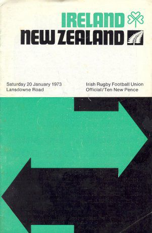 The programme from the Rugby game on in Lansdowne Road that day, copyright the respective owner