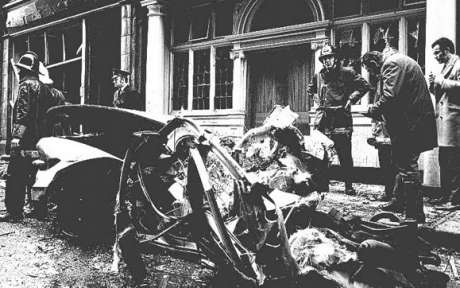 Sackville Place bombing 20th Jan 1973 aftermath, copyright the respective owner