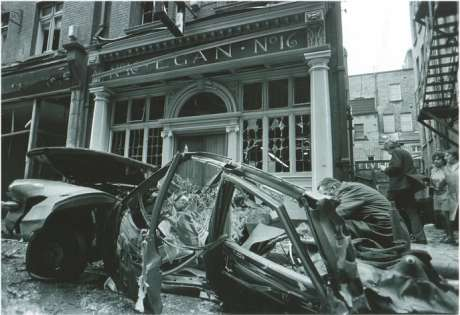 Another view of the Sackville Place bombing 20th Jan 1973 aftermath, copyright the respective owner