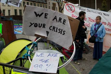 Occupy Dame Street : WE ARE YOUR CRISIS