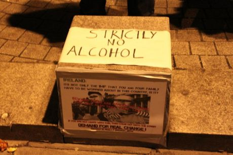 #OccupyDameStreet - Strictly no alcohol