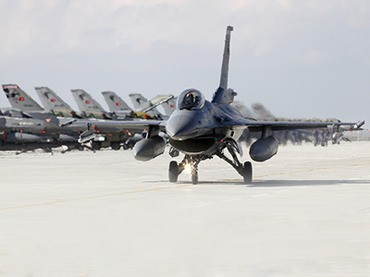Turkish Air Force F-16s moved to border.